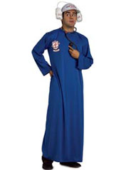 Mobile Life Support System Costume, includes patient robe and headpiece.