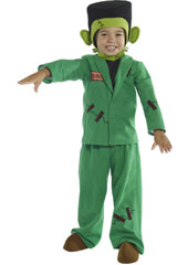 Monster Costume, includes top, jacket, trousers, headpiece and shoe covers.