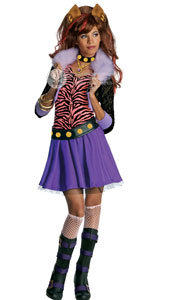 Monster High Clawdeen Wolf Costume, includes jacket with attached shirt, skirt, belt and choker.