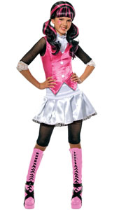 Share all your ghostly gossip with the girls at Monster High. After all, you've heard all the stories for the last 1,600 years! We'd all like to know the latest about you and that hunky werewolf! Monster High Draculaura Costume, includes shirt with att