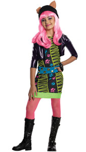 Monster High Howleen Costume, includes dress with attached bolero jacket, belt, glove and tights.