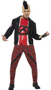 The Anarchist Costume, includes jacket, top and trousers. WIG, GLOVE AND CHOKER NOT INCLUDED - SOLD SEPARATELY.
