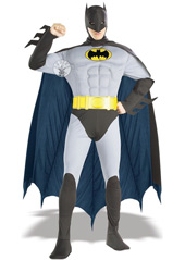 Perhaps the best-loved of all the Batman incarnations, the Sixties TV show is still a popular favourite. This muscly version of the original Caped Crusader would do Bruce Wayne proud. Your turn to uphold his honour. Muscle Chest The Batman Costume, i