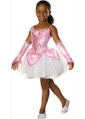 Musical Prima Ballerina Costume, includes dress, glovelets and musical sound box. Musical sound box is placed inside the underskirt pocket to play music as you dance.