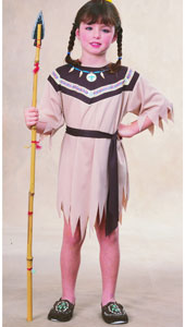 Native American Princess Costume, includes dress and waist sash.