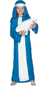 Nativity Mary Costume, includes robe and headpiece.