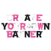 Oh So Fabulous Create Your Own Foil Banner. Letter Size 11.4cm.