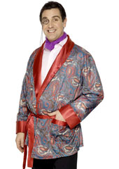Smoking Jacket, paisley design.