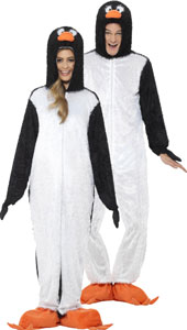 Penguin Costume, includes jumpsuit with hood.