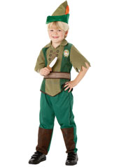 Dress up as Peter Pan, the boy who never grows up.  Peter Pan Costume, includes trousers, top, hat and EVA dagger.