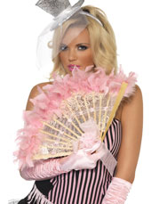 French Feathered Fan. Baby Pink