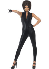 Posh Power Costume, includes black catsuit and gloves. WIG NOT INCLUDED - SOLD SEPARATELY.