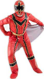 Power Ranger Mystic Force Costume. Fibre optic muscle chest jumpsuit with detachable cape, gloves and mask.