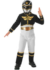 Power Rangers Megaforce Black Costume, Jake Holling, includes flat printed suit with PP Mask.
