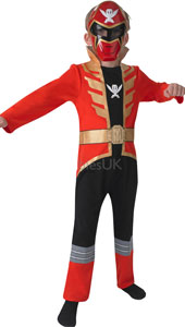 Red Super Megaforce Blue Costume, includes jumpsuit and mask.