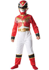It's Morphin' Time Go Go Megaforce Join the teens with attitude as you try to save the Earth from the Warstar. Chosen by the Gosei, you will be the leader, the Red Ranger. Power Rangers Classic Red Costume, includes flat printed suit with PP Mask.