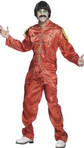 Psychedilic Costume, includes shirt and trousers. Red with gold trim.
