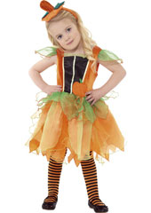 Pumpkin Fairy Costume, includes dress and headband. TIGHTS SOLD SEPARATELY.