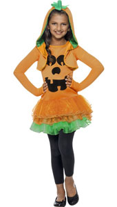Pumpkin Tutu Costume, includes pumpkin tutu dress and jacket with pumpkin hood.
