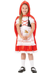 Red Riding Hood Costume, includes hooded cape and dress.