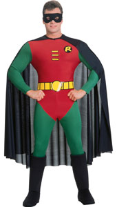 Holy , Batman Yes, there's much to make the Caped Crusader's sidekick holler in this stretchy, clinging suit that sets off the best of the Boy Wonder's frame, leaving him ready to dash about Gotham's streets. Batmans Robin Costume, includes jumpsu