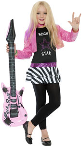 Rockstar Glam Costume, includes top and jacket. LEGGINGS NOT INCLUDED.