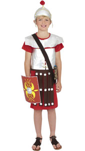 Roman Soldier Costume, includes tunic and hat. SHIELD NOT INCLUDED.