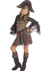 Sassy Pirate Costume, includes dress, headpiece and boot tops.