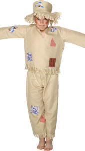 Scarecrow Costume, includes trousers, top and hat.