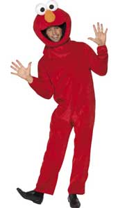 Sesame Street Elmo Costume, includes jumpsuit and headpiece.