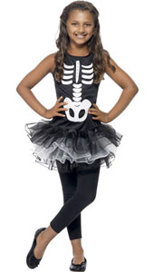 Skeleton Printed Dress with Tutu. LEGGINGS NOT INCLUDED.