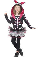 Skelly Rabbit Costume, includes dress, shrug with hood and collar.