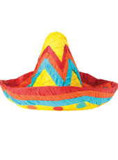 Sombrero Pinata. Unfilled. Remember to order your pinata buster, blindfold and fillers on our pinata page.