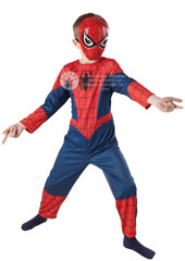 Classic Spiderman Child Costume, includes jumpsuit with PP mask.