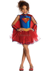 Supergirl Costume, includes dress with attached cape.