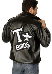 T-Bird Leather-Look Jacket from the film Grease, includes T-Birds Logo on back.