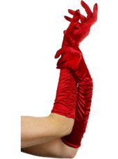 Temptress Gloves. Red. Long. 46cm