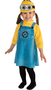 Despicable Me Toddler Costume includes dress and hat.