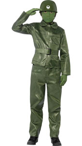 Boys Toy Soldier Costume, includes top, trousers, belt and helmet.