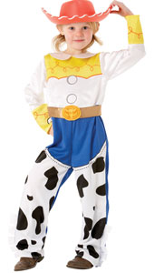 Toy Story Jessie Deluxe Costume, includes printed jumpsuit with attached chaps and EVA Hat.