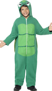 Turtle Costume, includes zip up all in one costume with EVA shell and hood.
