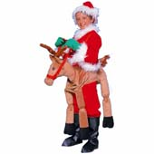Plush Reindeer costume, fits around waist with straps over shoulders.  Includes bells on reins, (santa suit not included).  (5 - 7 yrs).