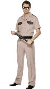 US Highway Patrol Costume, includes shirt, trousers and belt.