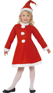 Value Santa Girl Costume, includes dress and hat.