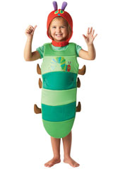 Start with your five-a-day fruit as the Very Hungry Caterpillar; will you be tempted by chocolate, pickle, sausage and lollipops? Watch what you eat and you might emerge as a butterfly! Very Hungry Caterpillar Costume, includes printed body tunic and