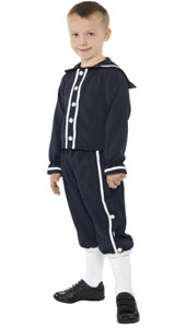 Victorian Rich Boy Costume, includes jacket, shorts and socks.