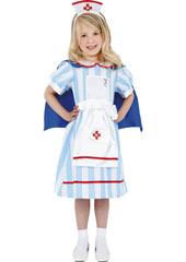 Vintage Nurse Costume, includes dress with cape and hat.