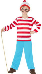 Wheres Wally Costume, includes top, trousers and hat.