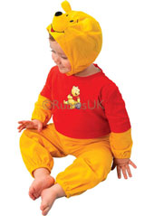 Who can resist a cuddle with a bear, especially a Winnie the Pooh bear? And when they come wrapped as cuddly as this tot's top outfit, they're as sweet as honey. With the all-in-one romper suit comes a Winnie balaclava, ears and all! Winnie the Pooh