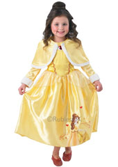 Winter Wonderland Golden Belle Costume, includes dress and cape.